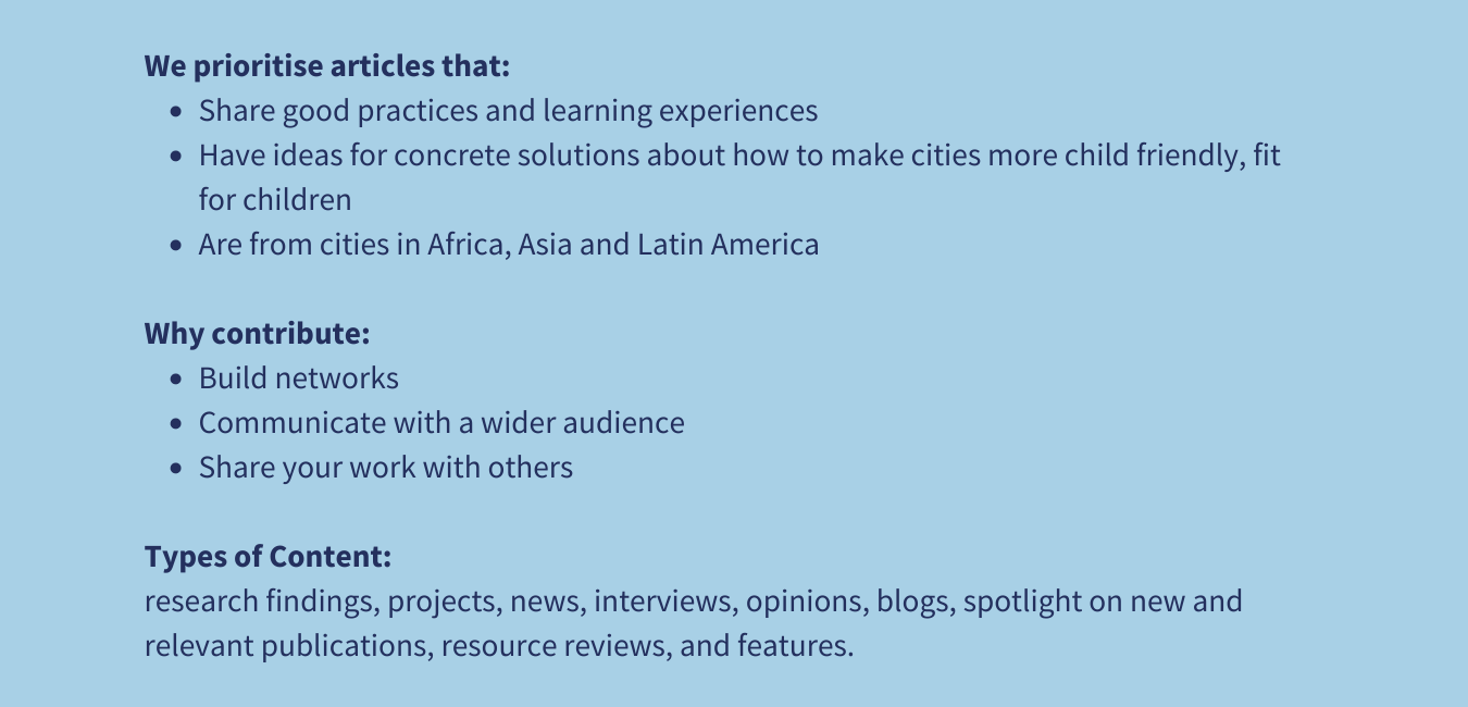 Global Alliance - Cities for Children Blog