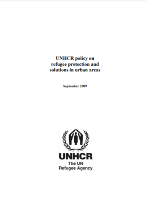 UNHCR policy on refugee protection in urban areas