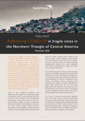 World vision addressing COVID19 in fragile cities