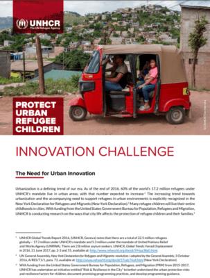 UNHCR Protect Urban Refugee Children